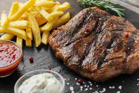 Reeds Restaurant - Steak and chips for two with a glass of wine each - Save 35%