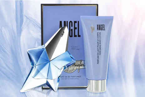 Wowcher Direct - Thierry Mugler Angel Edp and body lotion gift set - Save 39%
