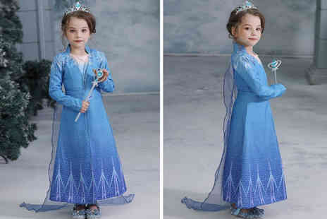 WowWhatWho - Childrens full winter queen fancy dress outfit get a dress, jacket and leggings - Save 60%