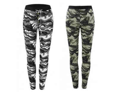 My Blufish - Pair of womens camouflage leggings choose your colour and UK size - Save 73%