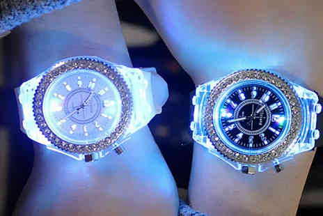 WowWhatWho - Led Multi Colour Luminous Quartz Watch Choose from 10 Colours - Save 75%