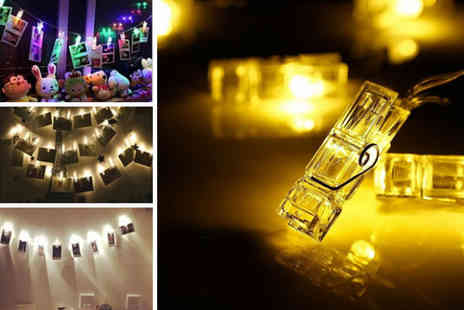 hey4beauty - Pack of 10 Led peg string lights choose your colour - Save 65%