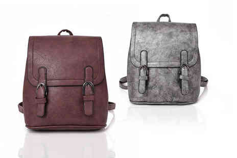 Belle Accessories - Twin buckle backpack - Save 0%