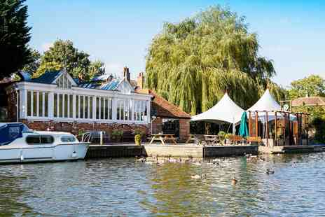 The Beetle and Wedge Boathouse - Two course riverside dinner for Two - Save 42%