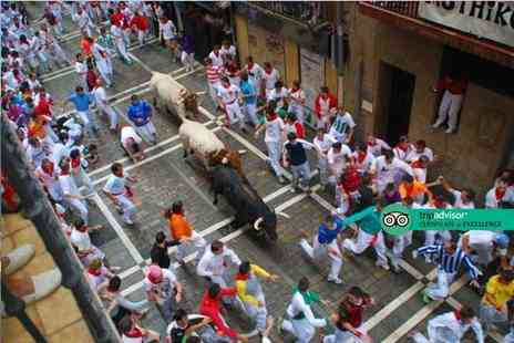 Crystal Travel - Two nights Pamplona getaway during the San Fermin bull running festival and return flights - Save 22%