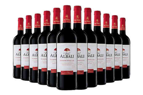 Q Regalo - Case of 12 Vina Albali Tempranillo Spanish red wine - Save 64%