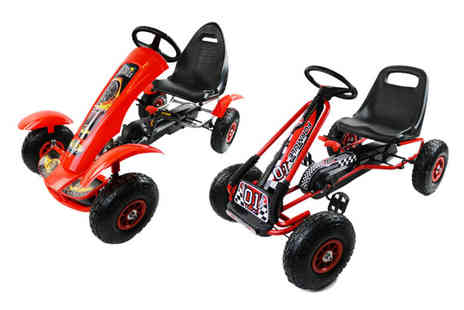Who Needs Shops - Pedal powered kids go kart or upgrade to get a deluxe go kart - Save 73%