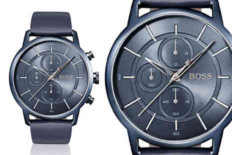 Best Watch Company - Hugo Boss architectural blue leather watch - Save 63%