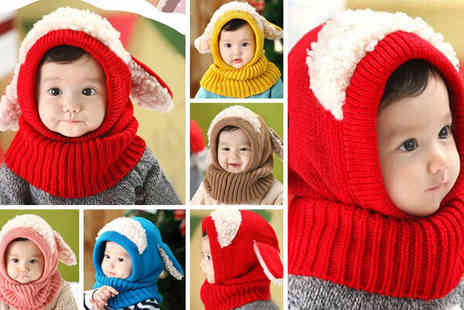 WowWhatWho - Kids 2 in 1 fluffy sheep hat scarf - Save 80%