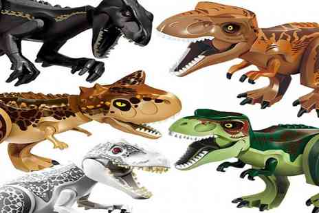 WowWhatWho - One or five large Jurassic dinosaur toys - Save 80%