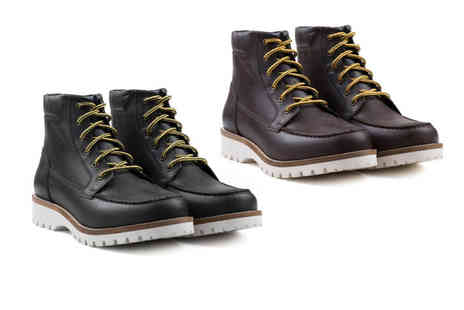 Redfoot - Mens leather apron lace up boots - Save 77%