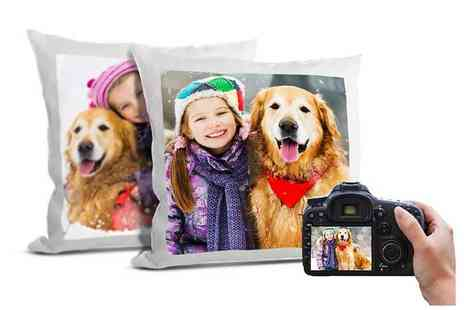 Printerpix - One or two personalised 15x15 cushion covers - Save 0%