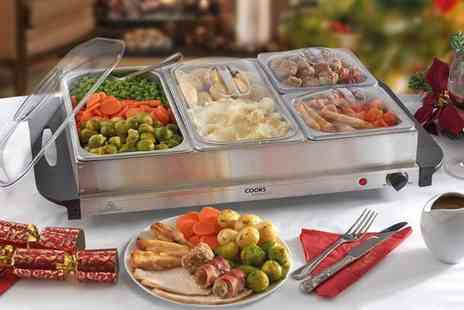 CJ Offers - Three or four sections buffet warmer - Save 63%