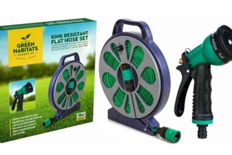 Groupon Goods Global GmbH - One or Two Pack of Green Habitats 50ft Kink Free Hose Pipe with Spraygun - Save 61%