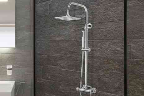 Groupon Goods Global GmbH - Round or Square Dual Valve Thermostatic Shower System - Save 70%