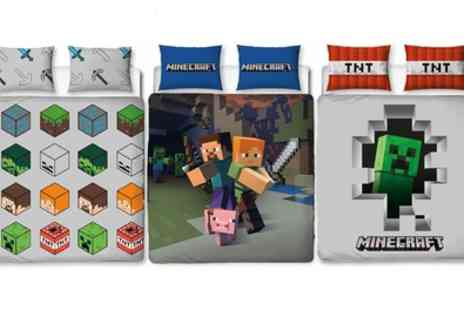 Groupon Goods Global GmbH - Official Minecraft Reversible Duvet Set - Save 41%