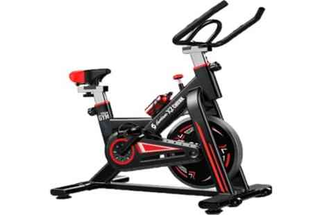 Groupon Goods Global GmbH - Hurricane X2 Chunk Exercise Spin Bike Xstream Gym With Free Delivery - Save 67%