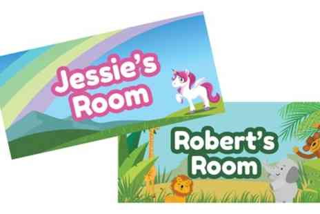 You Personalise - Personalised Childrens Bedroom Door Sign - Save 64%