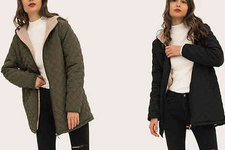 SecretStorz - Womens Hooded Faux Fur Lined Coat Choose from 5 Colours - Save 63%