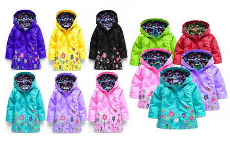 PinkPree - Girls floral raincoat choose from nine colours styles in sizes 90cm to 130cm - Save 60%