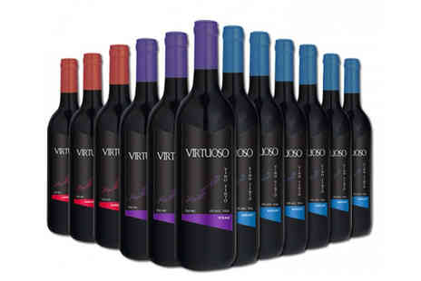 Q Regalo - Selection of twelve Virtuoso red wines - Save 69%
