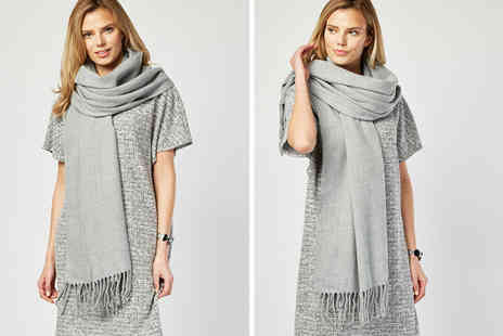Direct Sourcing Project - Cascabelle oversized grey scarf - Save 43%