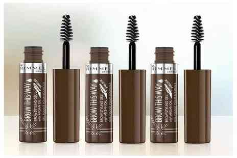 Chemist - Three pack of medium brown Rimmel London Brow This Way gels - Save 56%