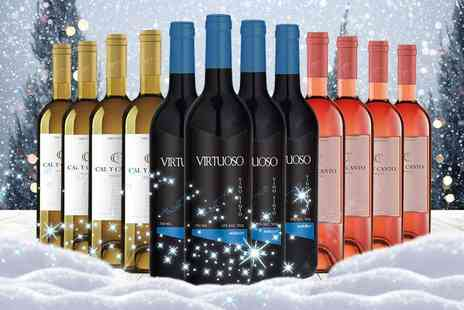 Q Regalo - Case of 12 mixed white, red and rose wines - Save 66%
