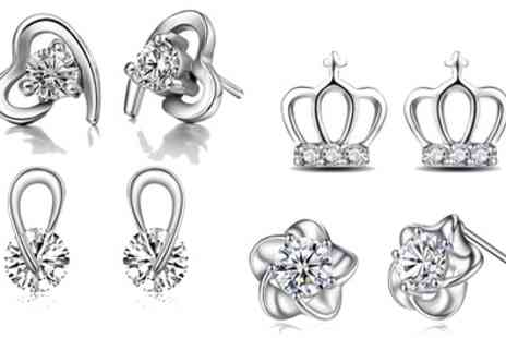 Groupon Goods Global GmbH - One or Two Pairs of Stud Earrings Made with Crystals from Swarovski - Save 68%