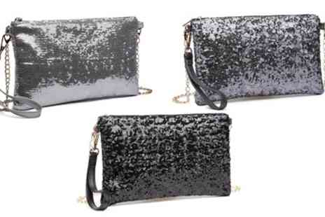 Groupon Goods Global GmbH - Womens Bling Sequin Clutch - Save 0%