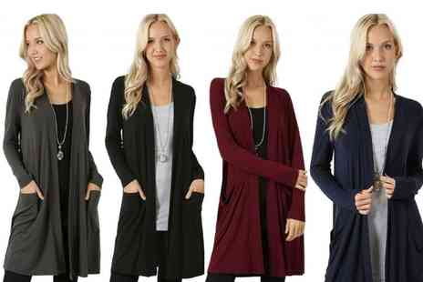 Backtogoo - Lightweight long cardigan choose from four colours - Save 70%