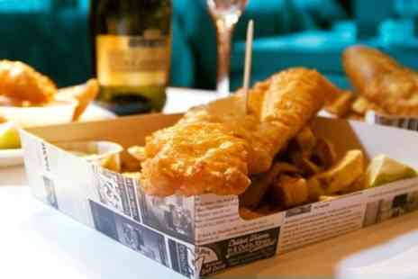 The Chippy Doon the Lane - Fish and Chips with Optional Glass of Wine for Two or Four - Save 55%