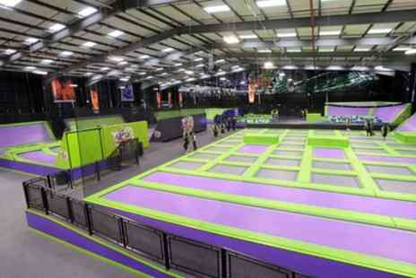 Jump Giants A - One or Two Hour Indoor Trampoline Park Access for One, Two - Save 29%