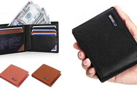 Secret Plums - Mens Smart Wallet With Anti Lost Bluetooth Choose from 3 colours - Save 75%