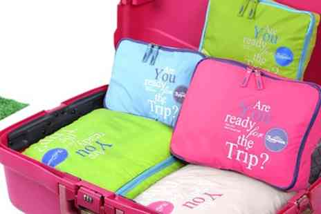 Groupon Goods Global GmbH - One, Two or Four Five Piece Luggage Organiser Bag Sets - Save 80%