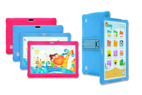 Wishwhooshoffers - 10 inch kids android tablet and case choose blue or pink - Save 70%