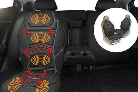 Fusion - Heated Car Seat with Massage Function Plus Remote Control - Save 78%