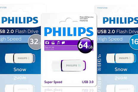 Ebeez - Philips USB 2.0 Snow Edition Flash Drive Choose from 16GB, 32GB or 64GB - Save 73%