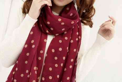 Groupon Goods Global GmbH - One or Two Polka Dot Chiffon Scaves - Save 87%