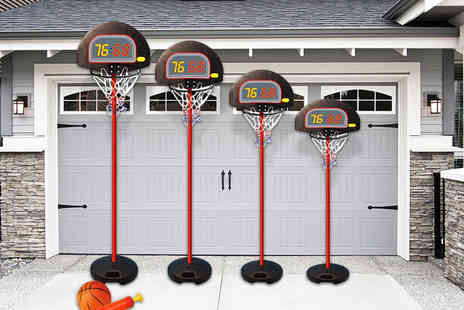 Eurotrade - Height adjustable kids basketball set shoot some hoops - Save 72%