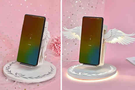 WowWhatWho - Angel wings Qi wireless charger - Save 70%