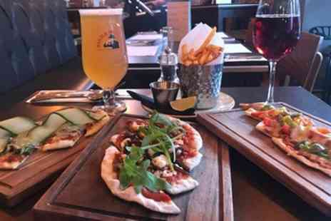 51 Mill Lane - 3 Pizzette and Fries to Share Between Pairs with Wine or Beer Each for 2 or 4 - Save 38%