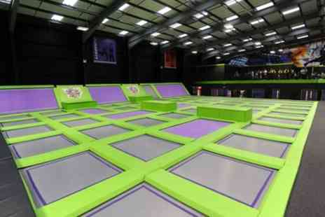 Jump Giants A - Trampoline Party for Up to 12 Children with Food and Drinks - Save 19%