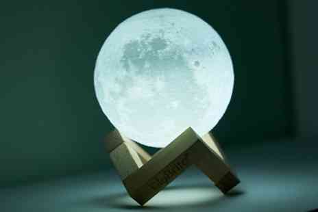 Groupon Goods Global GmbH - Globrite Touch Control Led 3D or Colour Changing Moon Lamp - Save 78%