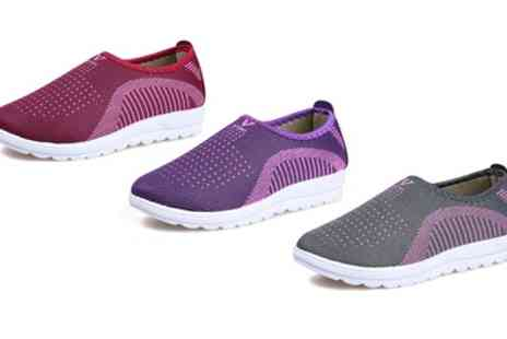 Groupon Goods Global GmbH - Womens Slip On Walking Sports Shoes - Save 50%