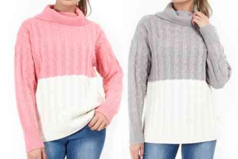 Groupon Goods Global GmbH - Brave Soul Colour Block Sweater - Save 62%