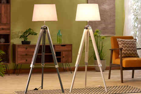 CJ Offers - Zennox tripod floor lamp choose from two colours - Save 51%