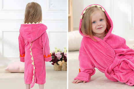 Secret Storz - Dinosaur hooded baby bathrobe - Save 68%