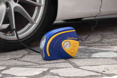 Vivo Mounts - Goodyear two in one portable tyre air compressor with Led light - Save 74%