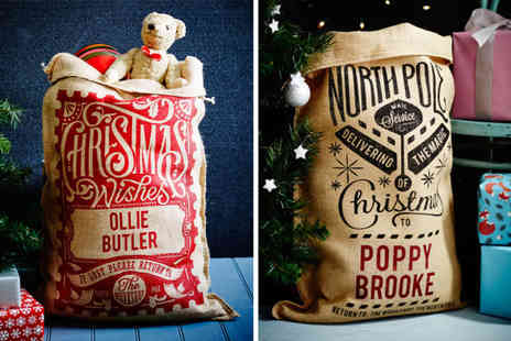 The Handmade Christmas Company - Personalised Christmas sack choose from 15 designs - Save 47%
